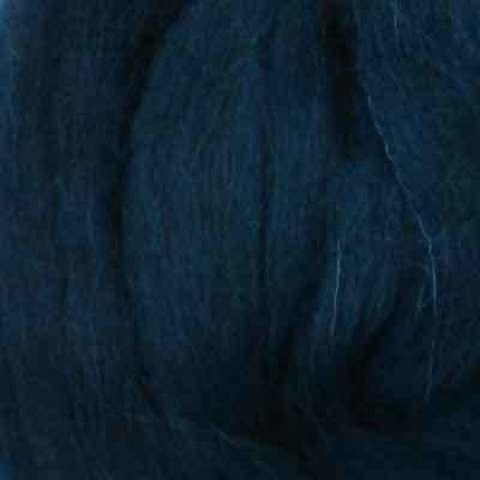 Шерсть для валяния полутонкая 04 темно-синий (Пехорка), фото