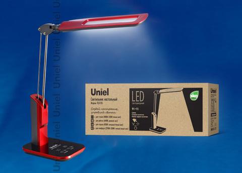 TLD-515 Red/9W/Светильник настольный/LED/900Lm/6 режимов в диапазоне 2700-6400K/С диммером/Цвет-красный