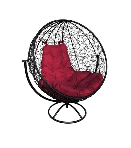 Кресло вращающееся Milagro black/burgundy