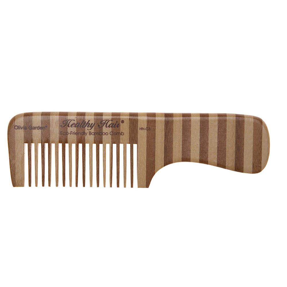 Гребень бамбуковый с ручкой Comb 2