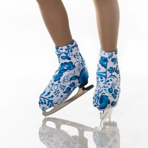 Чехлы для ботинок коньков Гжель