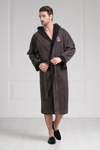 Мужской бамбуковый халат с капюшоном 11008-9 Laete