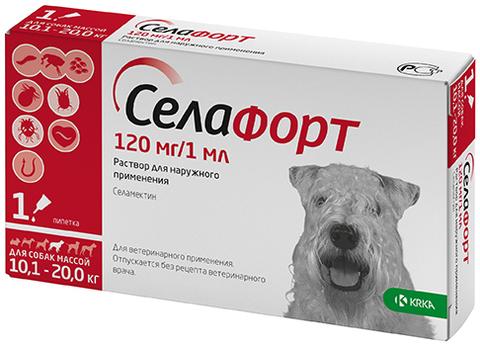 Селафорт 12% 120 мг. для собак 10,1-20 кг.  1 мл.