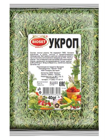 Укроп - листья, 40 гр.