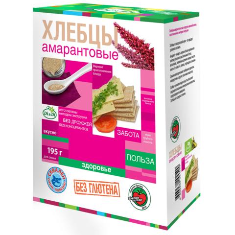 Хлебцы амарантовые без глютена Di&Di, 195г