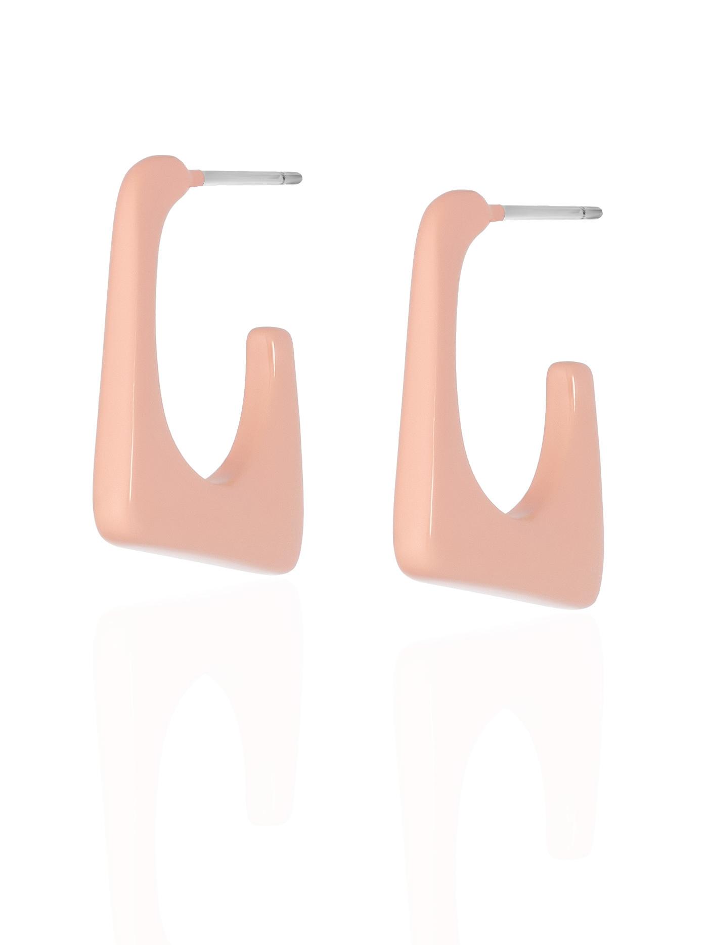 Розовые серьги
