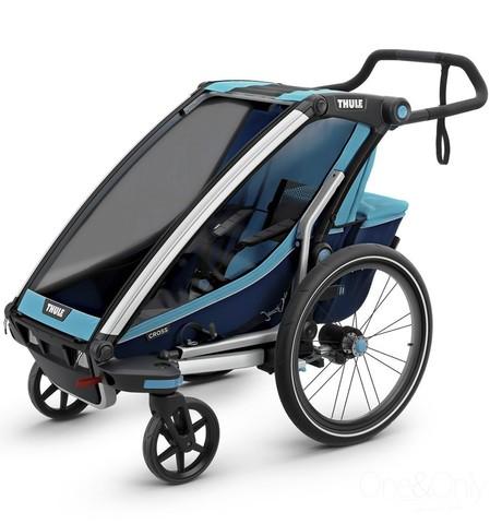 Картинка коляска Thule Chariot Cross2 голубая  - 1