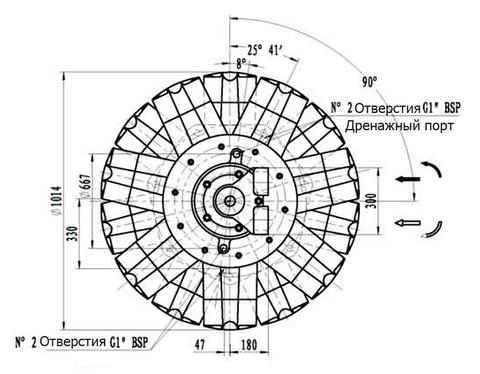 Гидромотор IPM12-14000