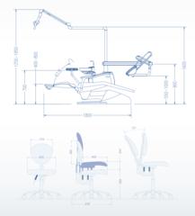 U100 стоматологическая установка с верхней подачей Siger