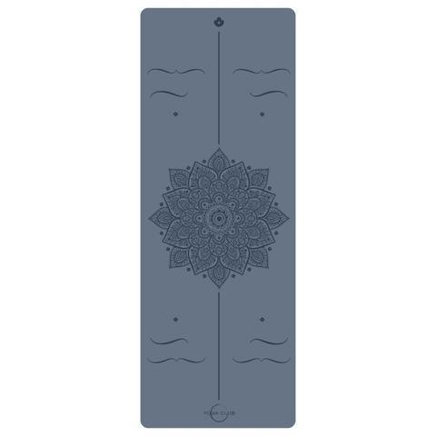 Каучуковый йога коврик Amra Blue Pro 185*68*4,5 см