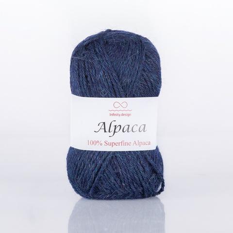 Пряжа Infinity Alpaca 0834 синий