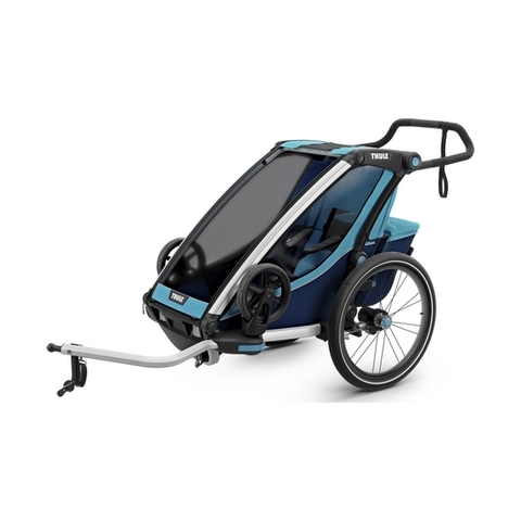 Картинка коляска Thule Chariot Cross2 голубая  - 3