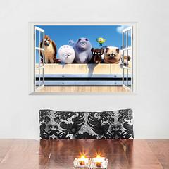 Декоративная 3D наклейка Тайная жизнь домашних животных