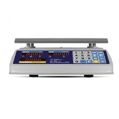 Весы торговые настольные Mertech M-ER 329AC-15.2, IP68, Fisher, LED, АКБ, 15кг, 2гр, 325х230, влагостойкие, с поверкой, без стойки
