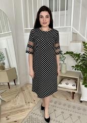 Валері. Стильна сукня plus size. Чорний горох