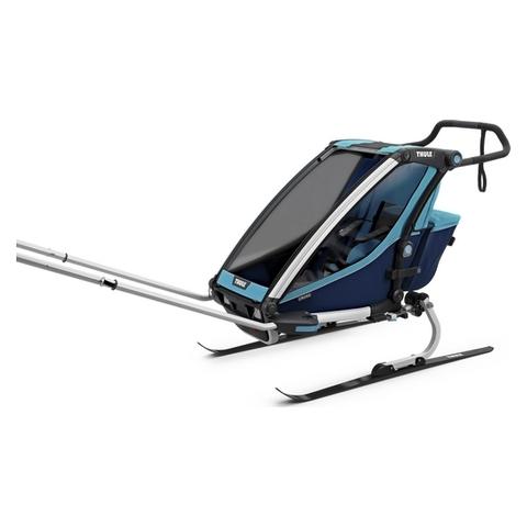 Картинка коляска Thule Chariot Cross2 голубая  - 5