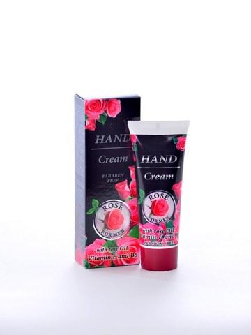 Энергизирующий крем для рук с натуральным розовым  маслом