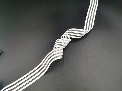 Резинка с прозрачными нейлоновыми вставками, 3 см, белая, м