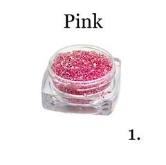 Хрустальная крошка(мелкая) розовая 1