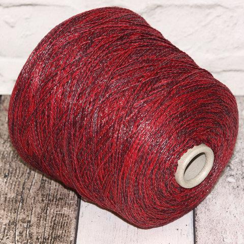Смесовка со льном Casa Del Filato / BERRY  320 красно-бордовый