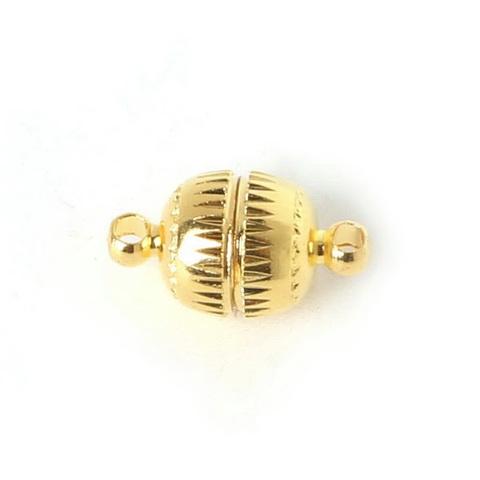 Замок для бус магнитный 14х8 мм золото