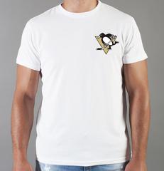 Футболка с принтом НХЛ Питтсбург Пингвинз (NHL Pittsburgh Penguins) белая 0012