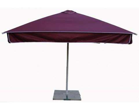 Зонт 3,0х3,0 м с воланом (алюминиевый каркас с подставкой, тент OXF 300D) ПК