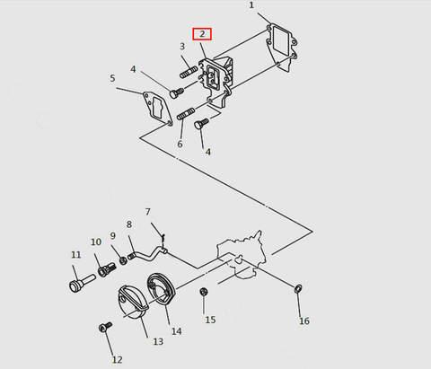 Клапана впускные в сборе для лодочного мотора T9.8 Sea-PRO (4-2)
