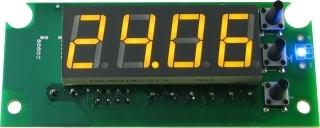 EK-STH0024UY - цифровой встраиваемый термостат с выносным датчиком, желтый