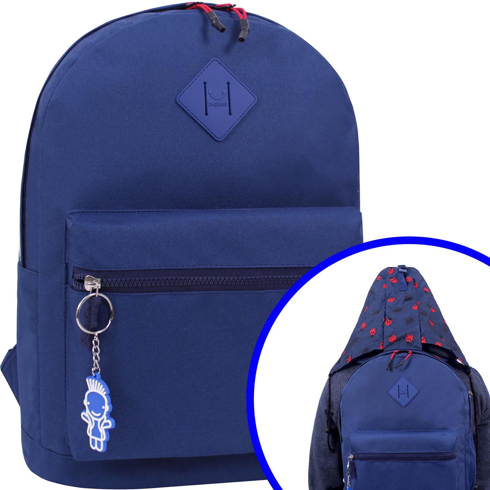 Городские рюкзаки Рюкзак Bagland Hood W/R 17 л. синий 453 (0054466) Вариант_3.jpg