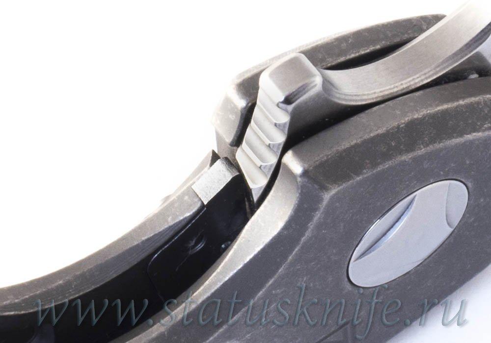 Нож CKF PeaceDuke М390, Мокумэ Кастом, дизайн Малышев - фотография