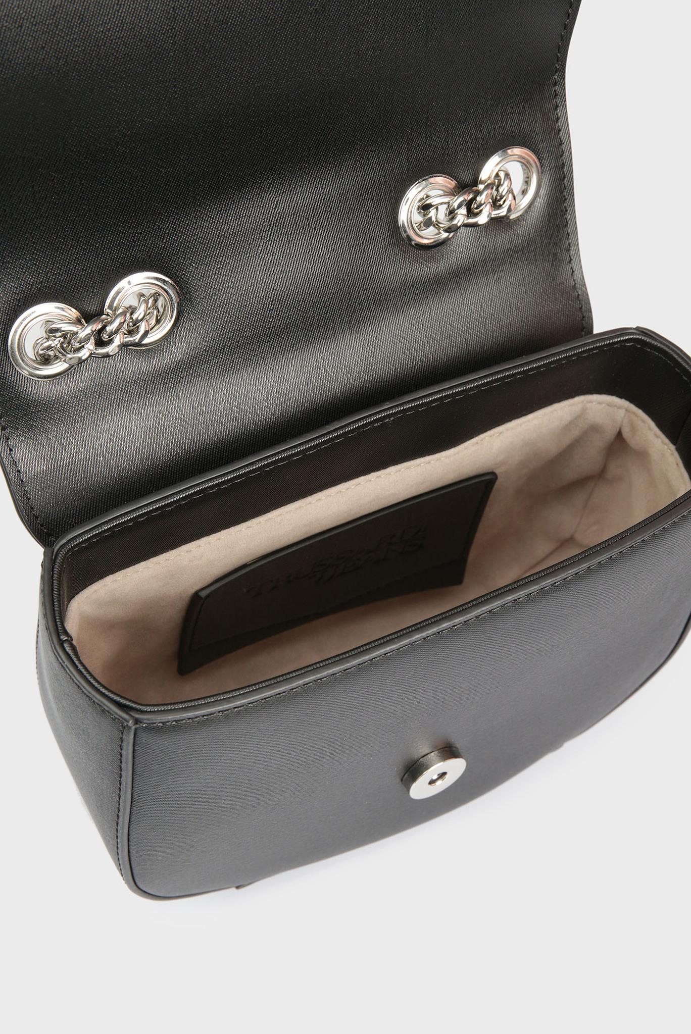 Женская черная сумка через плечо SVEVA Trussardi Jeans