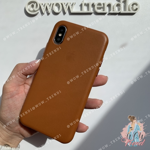 Чехол iPhone XR good Leather Case /saddle brown/