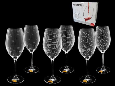 Набор бокалов для вина, 6 шт, «Wintime», «Гранд микс»
