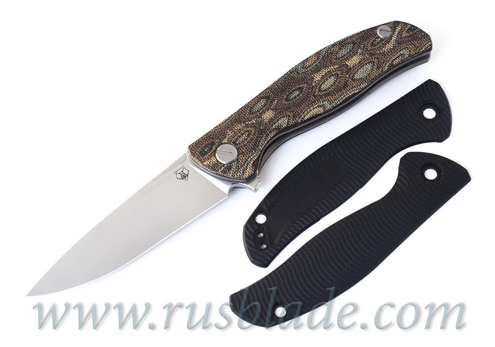 Shirogorov F3 G10 black handle scales