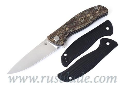 Shirogorov F3 G10 black handle scales