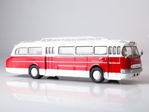 Ikarus 66 white-red 1:43 Modimio Our Buses #6