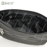 Сумка Саломея 1081 флок серый + черный