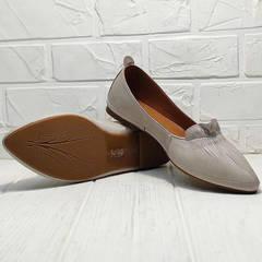 Лодочки туфли балетки кожаные женские Wollen G036-1-1545-297 Vision.