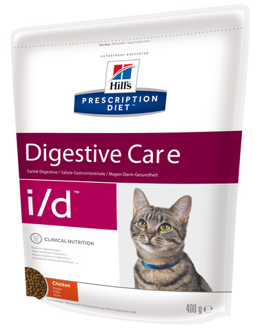 купить хиллс  диетический Hill's™ Prescription Diet™ Feline i/d™ with Chicken сухой корм для кошек старше 3-х недель, диета при заболеваниях ЖКТ 1.5 кг