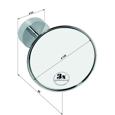 Косметическое зеркало настенное   Bemeta D140 см. (без подсветки)