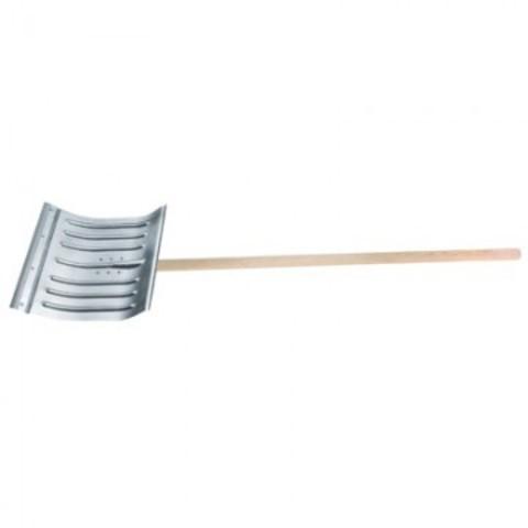 Лопата для уборки снега Сибртех 61582 ковш алюминиевый (43x37 см) с черенком