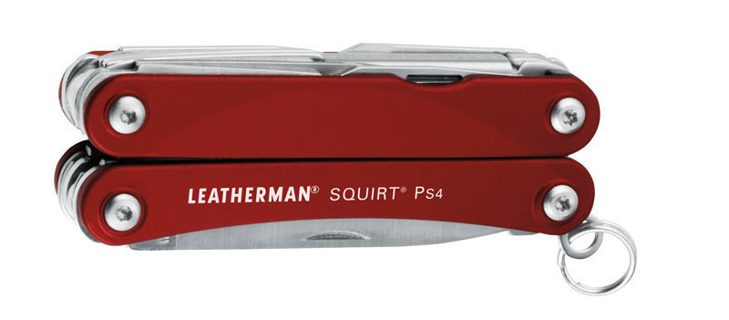 Мультитул Leatherman Squirt PS4, 9 функций, красный