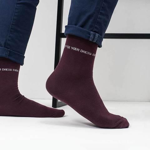 Мужские носки Dress Code бордо линия купить