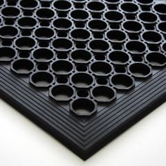Коврик входной грязезащитный резиновый REM 60x90х1,4см ячейки черн