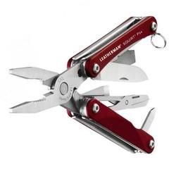 Мультитул-брелок Leatherman Squirt PS4 Red, 9 функций (831227) цвет красный | Multitool-Leatherman.Ru