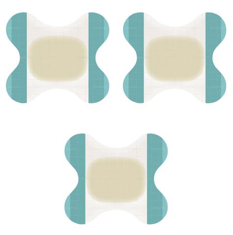 Комфил Плюс - Comfeel Plus, на пятку, для заживающей язвы, бабочка, 6х8 см, комплект 3 шт
