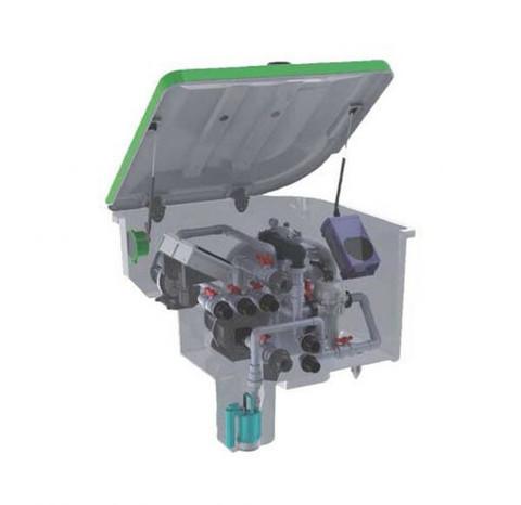 Комплексная фильтрационная установка AquaViva EMD-14SPL (14м3/ч) / 23589