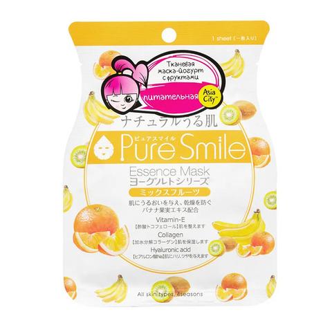 Питательная маска для лица SunSmile на йогуртовой основе с фруктами 23 мл