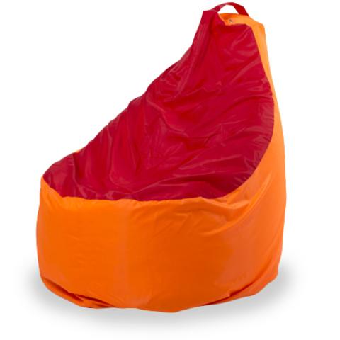 Пуффбери Внешний чехол Кресло-мешок комфорт  145x90x90, Оксфорд Оранжевый и красный